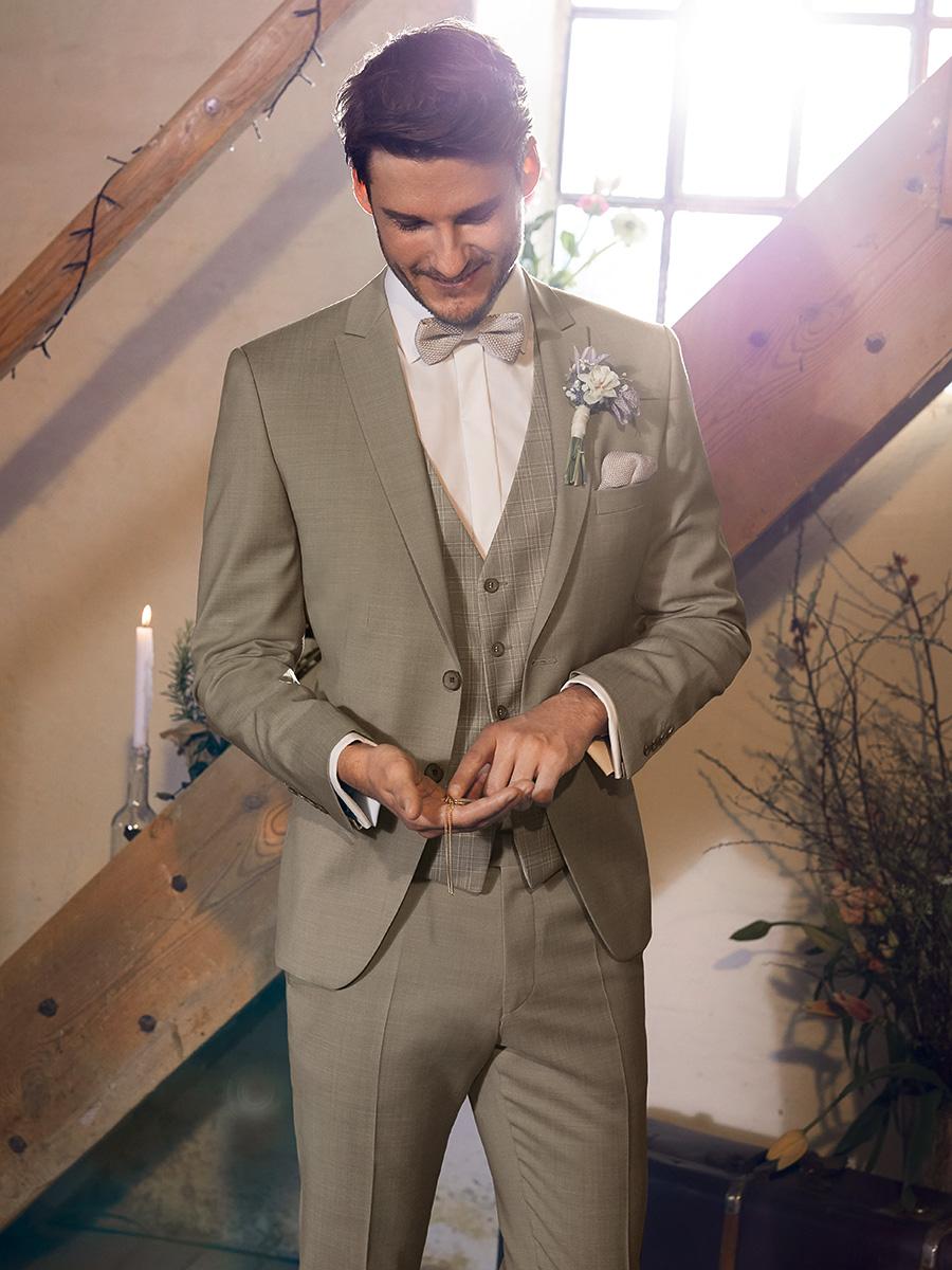 WILVORST Green Wedding homokszínű esküvői öltöny 491107-84