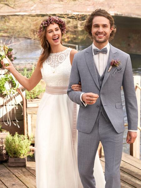 WILVORST Green Wedding füstkék esküvői öltöny 401107-36