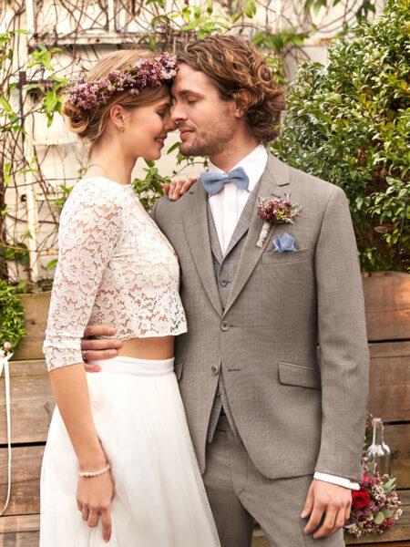 WILVORST Green Wedding khaki esküvői öltöny 401107-83
