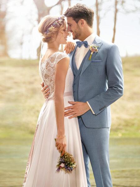 WILVORST Green Wedding világoskék esküvői öltöny 494101-37