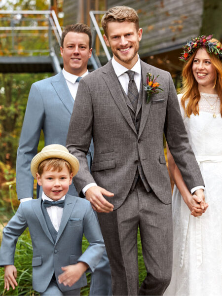 WILVORST Green Wedding asztroszürke esküvői öltöny 401259-54
