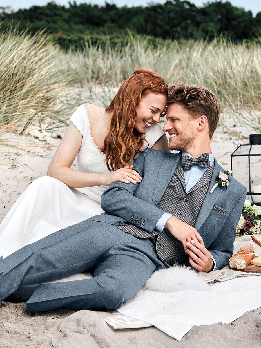 WILVORST Green Wedding füstkék esküvői öltöny 411109-33