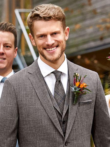 Green Wedding asztroszürke esküvői nyakkendő